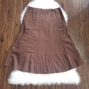 Material Girl   Tulip Knee Skirt Linen Blend 15/16
